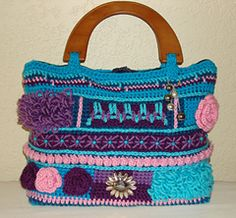 Loops and Roses Bag by Sabrina Goodson -- crochet pattern