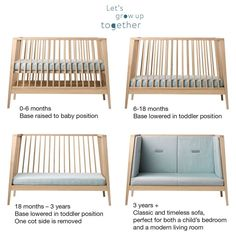 The Linea by Leander® cot is not just a baby cot. For your newborn baby, use it with the base raised to baby position. Nursery Furniture, Kids Furniture, Furniture Stores, Leander Cot, Baby Position, Cot Mattress, Cot Bumper, Teenage Room, Small Sofa