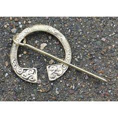 Brass Irish Fibula 6.5cm