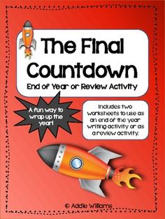"""FREE - """"The Final Countdown"""" - fun and easy activity for the end of the year or as a review activity."""