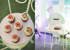 """Mayor Dylan's Charming """"My Own Little Town"""" Themed Party – Desserts Soft Colors, Green Colors, 3 Layer Cakes, Party Themes, Party Ideas, Striped Table, Pastel Palette, White Balloons, Green Party"""