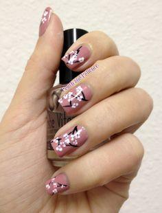 Polish and Patience: Cherry Blossom Nail Art #nails