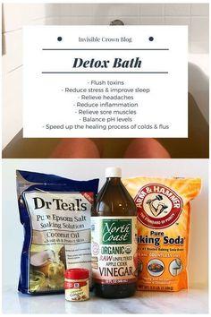 Baking Soda Bath, Baking Soda Shampoo, Bath Recipes, Detox Recipes, Detox Bath Recipe, Full Body Detox, How To Relieve Headaches, Healthy Detox, Natural Health Remedies