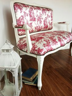 Items similar to Vintage Upholstered Red Toile Love Seat Chair on Etsy Decor, French Decor, Furniture, Love Seat, Home Decor, Toile Fabric, Furnishings, Red Decor, Upholstered Chairs