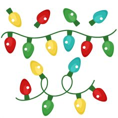 christmas lights scrapbook clip art christmas cut outs for cricut rh pinterest com free christmas lights clip art images broader