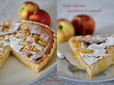 Tarte clafoutis nectarines et cannelle
