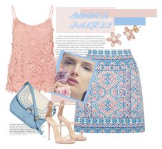 """""""SUMMER PASTELS"""" by slutskeran ❤ liked on Polyvore featuring Envi, Oasis, Hallhuber and T-shirt & Jeans"""
