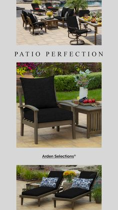 Arden Selections - Black Leala Texture Outdoor Neutral Cushions Cheap Patio Cushions, Replacement Patio Cushions, Patio Furniture Cushions, Outdoor Cushions, Outdoor Seating, Chair Cushions, New Patio Ideas, Outdoor Living Patios, Curved Patio