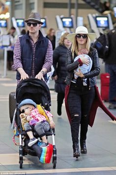Perfect family: Michael Bublé and his wife Luisana Lopilato no doubt need a chilled out ge...