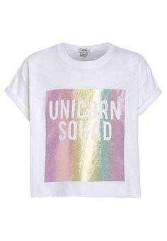 River Island UNICORN SQUAD - T-Shirt print - white für 14,95 € (12.05.17) versandkostenfrei bei Zalando bestellen. | Beautiful Cases For Gi