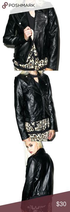 Evil Twin Nightshade Biker Jacket EUC no damage or wear. Urban Outfitters Jackets & Coats