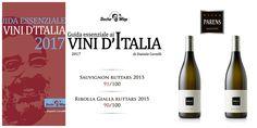 Sauvignon e Ribolla Gialla Ruttars, i vini selezionati da Daniele Cernilli per la Guida 2017
