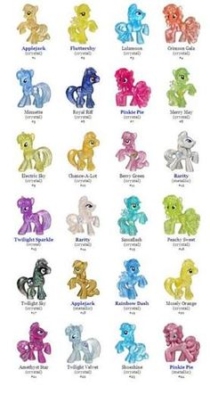My Little Pony Names And Pictures List Google Search
