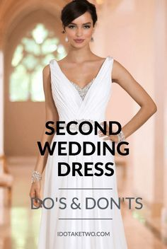 second wedding dress dos and dontsYou can find Second weddings and more on our website.second wedding dress dos and donts dresses beach second Wedding Dresses Second Marriage, Wedding Dress Over 40, White Wedding Gowns, Second Weddings, Casual Wedding, Perfect Wedding Dress, Wedding Vows, Blue Weddings, Wedding Rustic