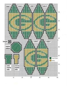 Packers hot air balloon made pattern Plastic Canvas Ornaments, Plastic Canvas Tissue Boxes, Plastic Canvas Crafts, Plastic Canvas Patterns, Cross Stitch Designs, Cross Stitch Patterns, Football Crafts, Football Memes, Diy Canvas