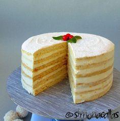 Lemon White Cake (a traditional recipe) - simonacallas Cake Recipes, Dessert Recipes, Tall Cakes, Take The Cake, Cake Flour, Food Cakes, Cake Mold, Tray Bakes, Pastries