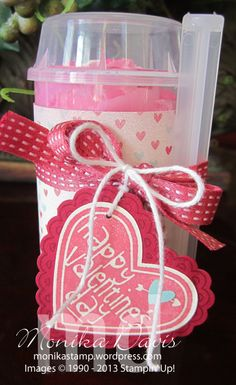 Stampin' Up! - Valentine Push-up treat - Monika Davis