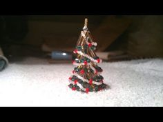 Tiny beaded Christmas Tree (ornament)  beading tutorial