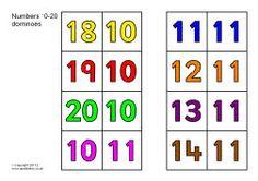 Numbers 10-20 dominoes (SB7674) - SparkleBox