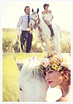 loving the horse and the bohemian vibe of this shoot!