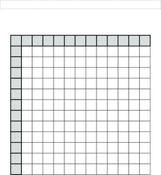 Looking for a Multiplication Table Printable Blank Free. We have Multiplication Table Printable Blank Free and the other about Printable Diagram it free. Multiplication Table Printable, Multiplication Chart Printable, Multiplication Grid, Times Table Chart, Times Tables, Back To School Supplies For Teens, Study Time Table, Math Tables, Printable Graph Paper