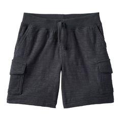 Toddler Boy Jumping Beans® Slubbed Cargo Shorts, Size: 2T, Grey