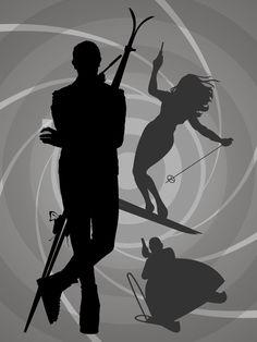 James Bond - 'On Her Majesty's Secret Service' minimalist movie poster James Bond Party, James Bond Theme, James Bond Movies, Roger Moore, Sean Connery, Estilo James Bond, Service Secret, George Lazenby, Bond Series