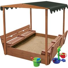 Badger Basket Convertible Cedar 4' Rectangular Sandbox with Cover & Reviews | Wayfair