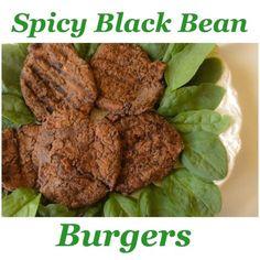 Spicy Black Bean Burgers. Oh my, yum!!! #cleaneating #vegan #glutenfree #blendtec