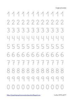 Resultado de imagen de grafomotricidad numeros