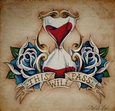 Vintage Sparrow Tattoo Design | Old School Tattoos