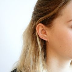 A Delicate Rose Gold Wave Earring Climber Scallops That Were Fabricated By Hand From