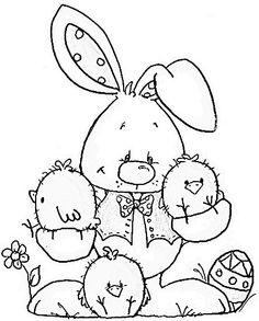 bunny coloring page to use for making a wallhanging as a pattern