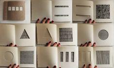 "eleanorhullock: ""(2010) Japonés libro puñalada bind 'recortes'.  Papel, hilo, tinta.  """