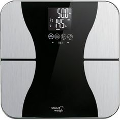 Smart Weigh Body Fat Digital Precision Scale with Tempered Glass Platform, Eight User Recognition, and 440 lb Weight Capacity, Measures Weight, Body Fat, Water, Muscle and Bone Mass -- Find out more about the great product at the image link.