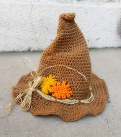 for my nieces Halloween costume.now to find a pattern.maybe Koshler, Nahirniak and Hubbard could help me figure out how to make it :) halloween hats Crochet Adult Hat, Crochet Bebe, Crochet Cross, Crochet Bunny, Crochet Baby Hats, Cute Crochet, Hallowen Costume, Halloween Hats, Halloween Crochet
