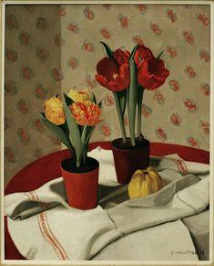 Vallotton /Still Life:. Tulips - Felix Vallotton as art print or hand painted oil. Maurice Denis, Pierre Bonnard, Edouard Vuillard, Critique D'art, Red Tulips, Still Life Art, Realism Art, Art Deco, Art Moderne