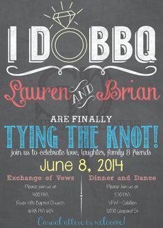 I DO BBQ Wedding Invitation Listing for by SouthardPublications, $80.00