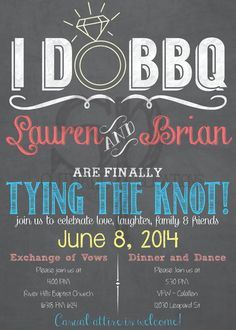 I DO BBQ Wedding Invitation Listing for by SouthardPublications, $80.00