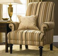 accent-chair-upholstered-in stripes