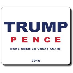 Donald Trump and Mike Pence White Mouse Pad