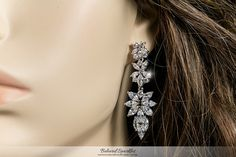 MARLENE MARQUISE CLUSTER CHANDELIER EARRINGS | 8 Carat | Cubic Zirconia