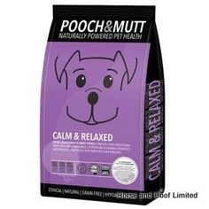 Pooch Mutt Calm Relaxed Grain Free Dog Food 2kg Pooch Mutt Calm Relaxed Grain Free Dog Food is a uniquely formulated food to help keep over excitable  dogs a little more under control through diet & correct nutrition.