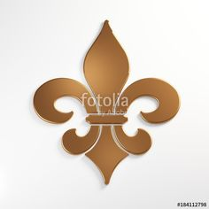 """Fleur-de-lis Isolated. Bronze color. 3D Rendering Illustration"" Stock photo and royalty-free images on Fotolia.com - Pic 184112798"