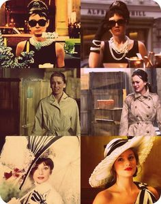 Audrey Hepburn as Holly Golightly in Breakfast at Tiffany's and My Fair Lady and Leighton Meester as Blair Waldorf in parallel scenes in Gossip Girl Gossip Girls, Estilo Gossip Girl, Gossip Girl Fashion, Blair Waldorf Style, Audrey Hepburn, Ellie Saab, Romy Schneider, Keira Knightley, Breakfast At Tiffanys