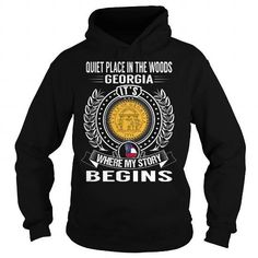 QUIET PLACE IN THE WOODS, GEORGIA ITS WHERE MY STORY BEGINS T-SHIRTS, HOODIES, SWEATSHIRT (39.99$ ==► Shopping Now)