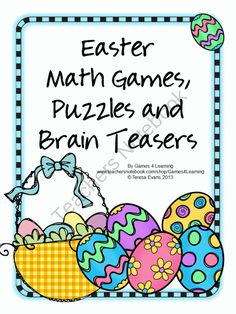 Easter Math Games Puzzles and Brain Teasers product from Games-4-Learning on TeachersNotebook.com