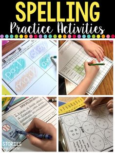 Are you in a spelling rut? Take a look at these spelling activities. They can be used for 10, 15, or 16 words. You can grab a free sample, too!
