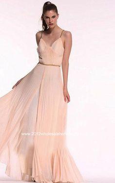BCBG Max Azria V-Neck Floor Length Dress