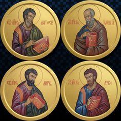Byzantine Art, Byzantine Icons, Religious Icons, Religious Art, Monastery Icons, Marcus And Lucas, St John The Evangelist, Church Icon, Religious Paintings